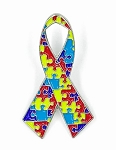 Autism Ribbon Lapel Pin