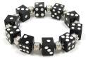 Black Dice Stretch Bracelet