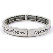 Brushed Silver Inspirational Cuff