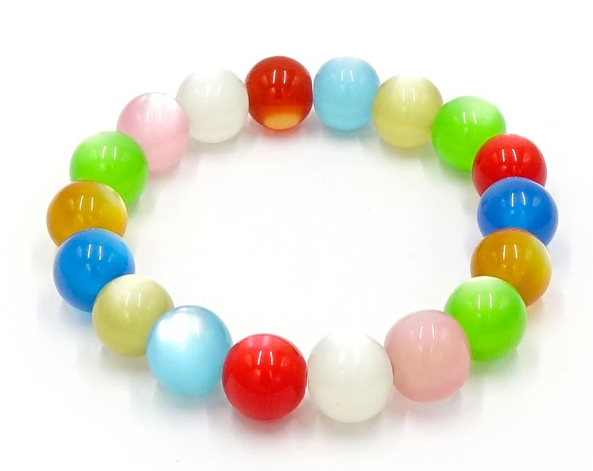 Colorful Candy Ball Resin Beaded Bracelet