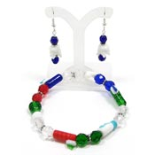 Beaded Dental Bracelet And Earrings Set