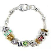 Good Luck Charms Slider Bead Bracelet