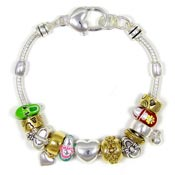 Mary Jane Shoes Slider Bead Bracelet