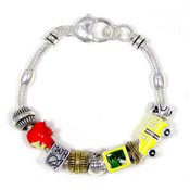 School or Teacher Slider Bracelet