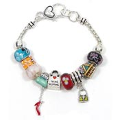 Gone Shopping Slider Bead Bracelet