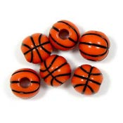 Acrylic Basketball Bead - Orange Pick Your Shade