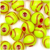 Acrylic Softball Bead