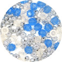 Clear Blue Acrylic Bead Mix