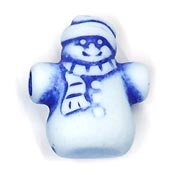 Large Blue And White Snowman Pony Beads