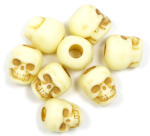 Bone Colored Acrylic Skull Bead