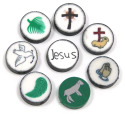 Polymer Clay Christian Bead Set 8 Pieces