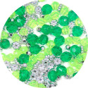 Green Acrylic Bead Mix