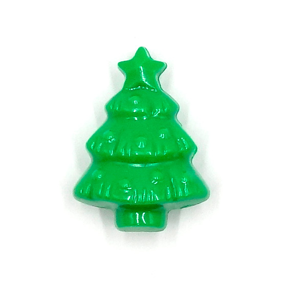 Large Green Christmas Tree Pony Beads