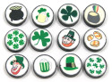 Polymer Clay St. Patricks Bead Set 12 Pieces