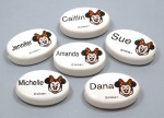 Ceramic Minnie Mouse Girl Name Beads