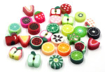 Mini Polymer Clay Fruit Beads 10 Pieces