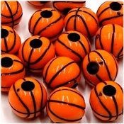 Acrylic Basketball Bead Orange