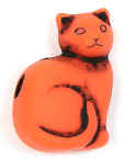 Orange And Black Cat Pony Bead