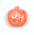 Orange Pearl Jack O Lantern Pony Bead