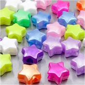 Pearl Star Pony Bead Mix 50 Pieces