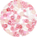 Pink Czech Glass Bead Mix