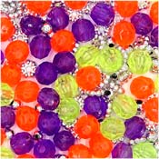 Purple Yellow Orange Bead Mix