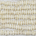 7-10mm Fat Side Drilled Rice Krispie Pearl Beads Strand