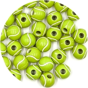 Acrylic Yellow Tennis Ball Bead