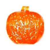Orange Glitter Jack O Lantern Pony Bead