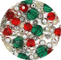Fancy Colors Of Christmas Bead Mix