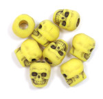 Yellow Acrylic Skull Bead