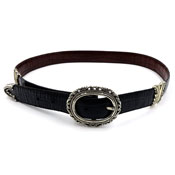 Brighton Black Brown Reversible Leather Belt Large