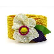 Yellow Flower IB DIffusion Belt By Linda Waldorf 1980s
