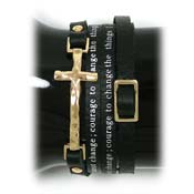 Black Serenity Prayer Leather Wrap Bracelet