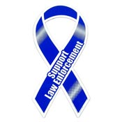 Blue Support Law Enforcement Ribbon Magnet