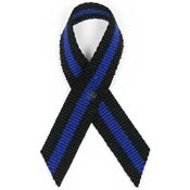 Thin Blue Line Awareness Ribbon Pin