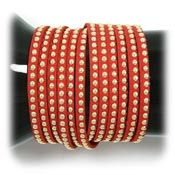 Red Studded Wrap Bracelet