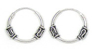 Sterling Sleeper Hoops