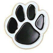 Black Paw Pin