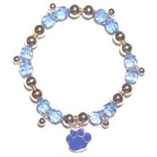 Colorful Paw Stretch Bracelet Blue