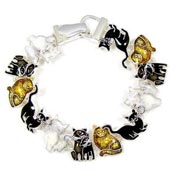 Cats On Parade Magnetic Bracelet