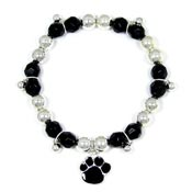 Colorful Paw Stretch Bracelet Black