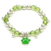 Colorful Paw Stretch Bracelet Green