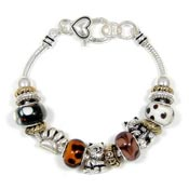 Kitty Cat Slider Bead Bracelet