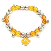 Colorful Paw Stretch Bracelet Orange