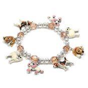 Pampered Puppies Charm Bracelet