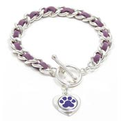Purple Paw Bracelet For Animal Abuse Awareness