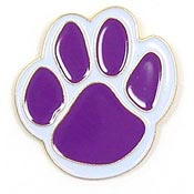 Purple Paw Pin