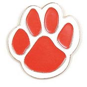Red Paw Pin