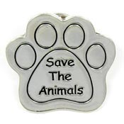Save The Animals Charity Paw Pin